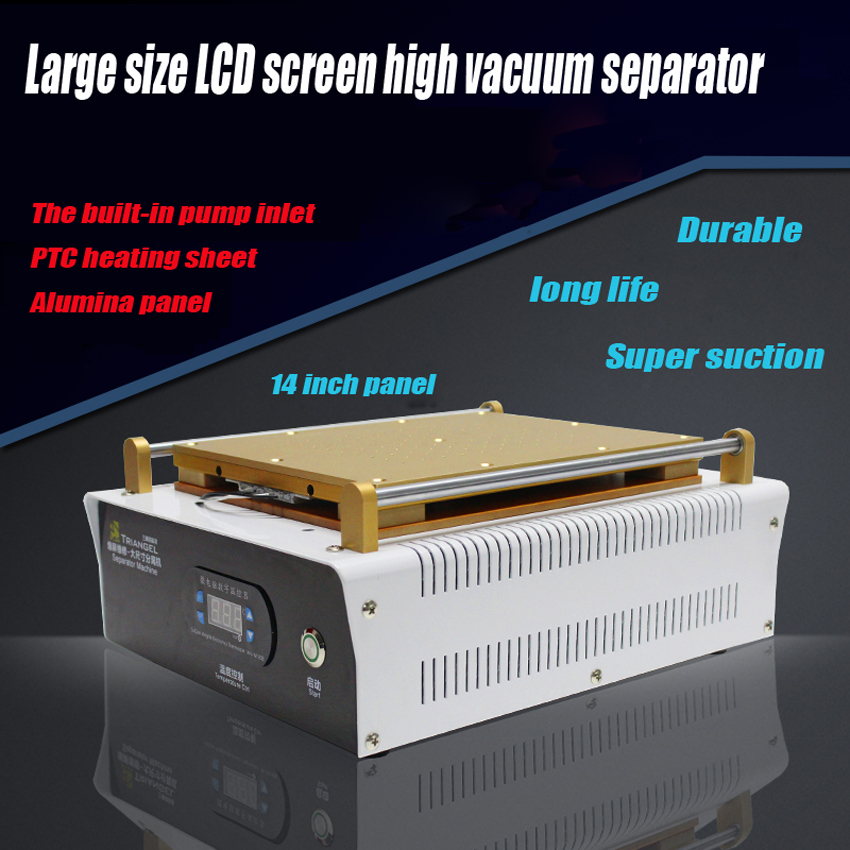 1PC fullset Built-in Vacuum Pump 14 inch for iPad Glass LCD Separator Split Screen Repair Machine for Samsung Tablet PC built in air vacuum pump ko semi automatic lcd separator machine for separating assembly split lcd ts ouch screen glas