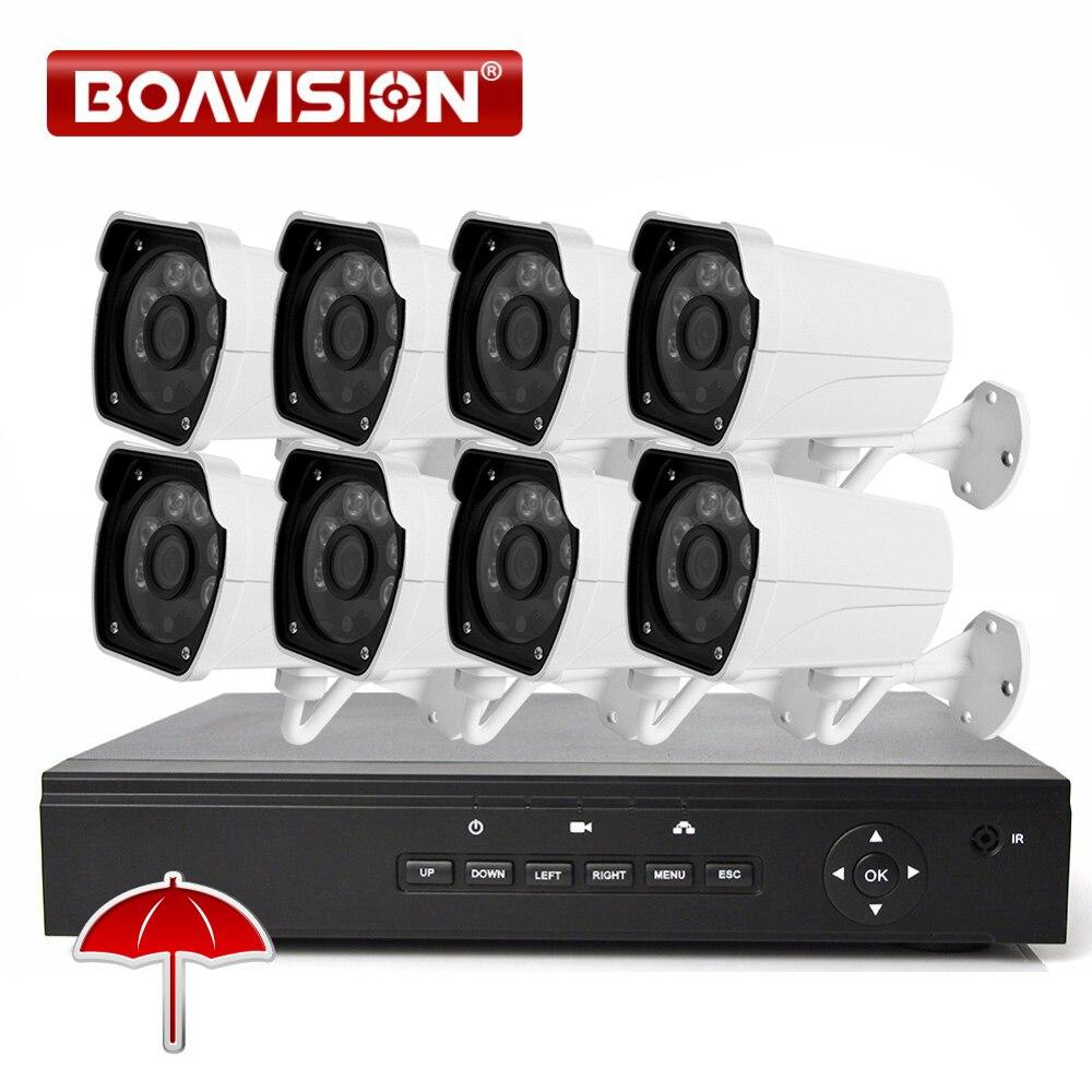 720 P 1.0MP камеры системы безопасности 48 В POE NVR ничуть 8 шт. 1280*720 ONVIF POE ip камера открытый 8CH CCTV видеонаблюдения