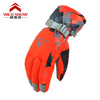 WILD SNOW Ultra Low Temperature Cold Resistant Ski Gloves Winter Outdoor Waterproof Windproof Breathable Thickening Gloves