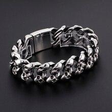 Rock Men Skull Bracelet