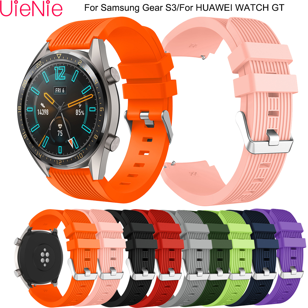 22mm Replace Strap For Samsung Gear S3 Frontier/classic Band For Samsung Galaxy Watch 46mm Strap Band For HUAWEI WATCH GT Strap