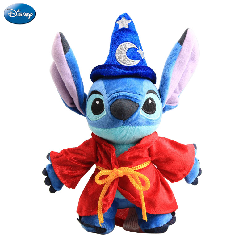 Disney Magic Lilo And Stitch Plush Animal Stuffed Toy PP Cotton Kawaii Scrump Doll Birthday Christmas Present Children Girl Toy