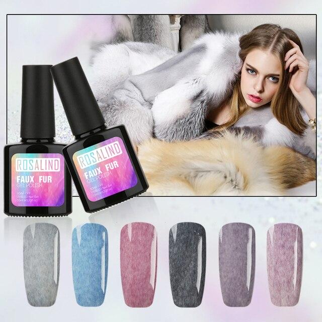 ROSALIND 10ML Gel Nail Polish UV LED Nail Art Hybrid Gel For Nail Manicure Soak Off Semi Permanent Nail Art Varnish