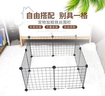 diy-combination-wire-mesh-pet-cage-small-dog-teddy-dog-cage-cat-rabbit-cage-multi-function-fence-iron-cage-pet-fence