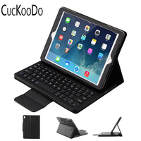 PU Leather Folio Case Cover Detachable Wireless Bluetooth Keyboard Cover Case For Apple IPad Pro 10