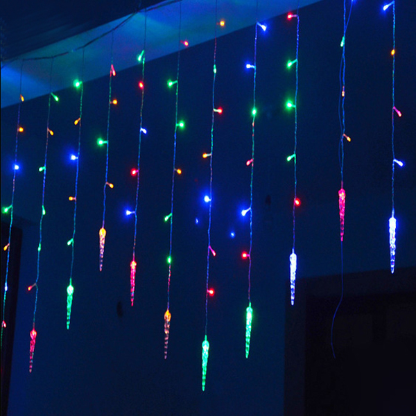 Led Icicle String Lights : Aliexpress.com : Buy 4m*0.7m 100 LED icicle Curtain Lights Christmas Led Icicle String Fairy ...