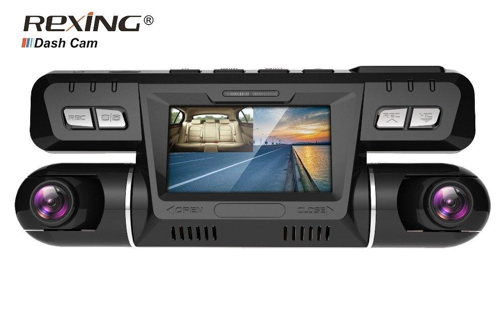 Caméra de tableau de bord Rexing P28 avec WiFi, double caméra de tableau de bord avant et cabine 1920x1080 P pour voitures, Taxi Uber