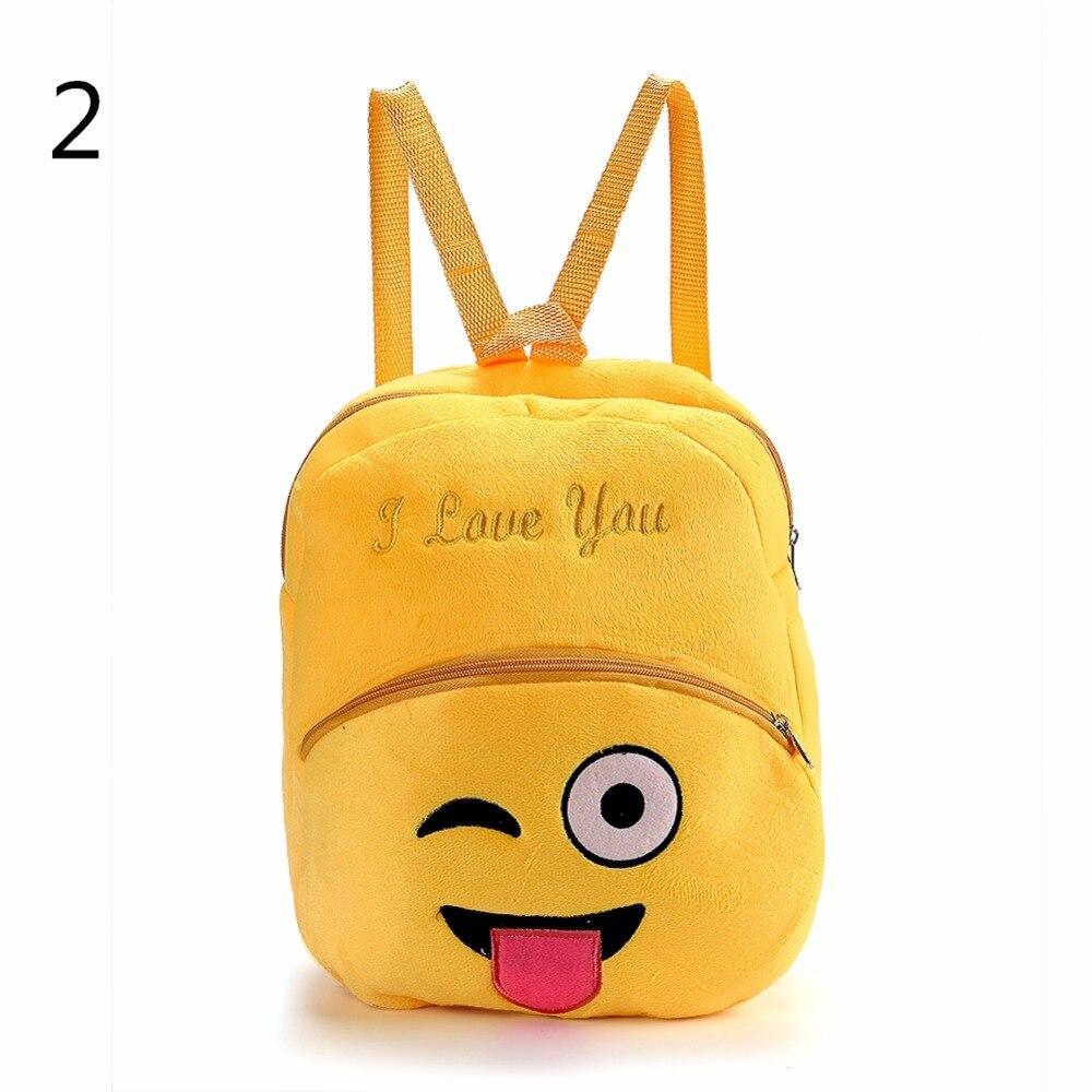 THINKTHENDO Lovely Toddler Kids Cartoon Naughty Face Backpack School Shoulder Bag Rucksack Baby Gift