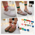 5 Pairs/lot  Cool Crystal glass wool socks hamburg pizza sockssummer ultra-thin transparent bud silk socks