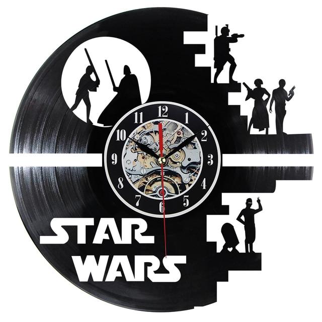 Fashion Creative Clock CD Vinyl Record Wall Clock Film  Theme Home Decor 3D Hanging Watches Duvar Saat Home Decoracion