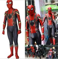 Custom Spiderman Homecoming Cosplay Costume Zentai Iron Spider Man Superhero Bodysuit Suit Jumpsuits Halloween costume S 3XL