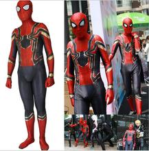 Custom Spiderman Homecoming Cosplay Costume Zentai Iron Spider Man Superhero Bodysuit Suit Jumpsuits Halloween costume S-3XL цены