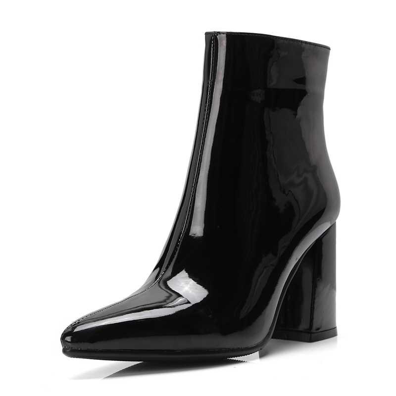 2019 Mới Bạc Vàng Nữ Mắt Cá Chân Giày Mũi Nhọn Chun Cao Gót Giày Gương Kim Loại Nữ Bơm Nữ Gợi Cảm Đế giày