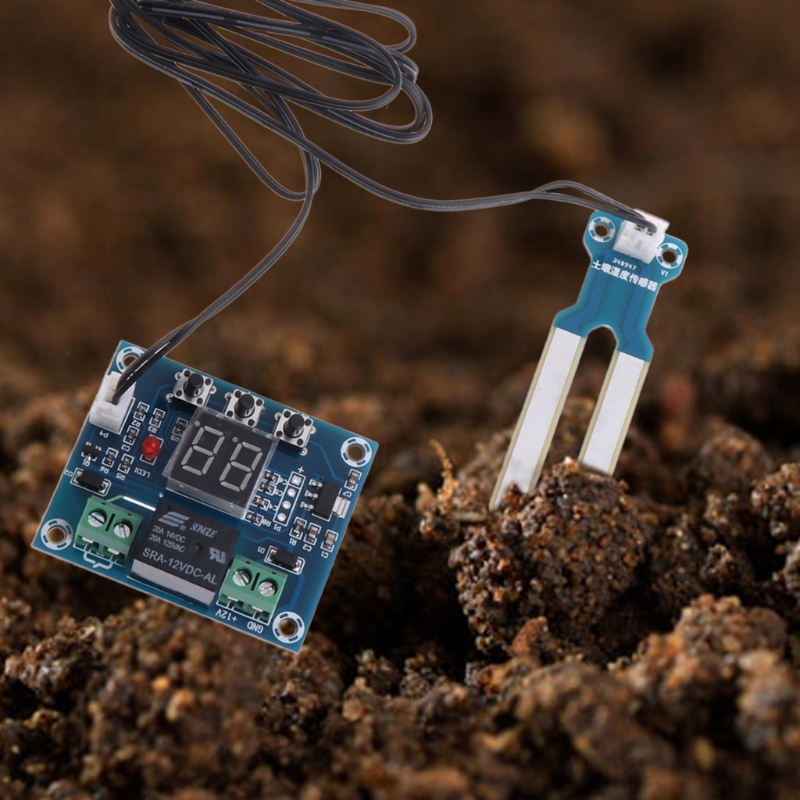 12V Soil Humidity Sensor Controller Irrigation System Automatic Watering Module Digital Humidity Controller %328&313 5pcs rain sensor water raindrops detection module automatic watering rain weather module humidity for arduino raspberry pi
