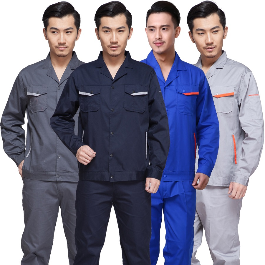 10 Set Long-sleeve Work Wear Set Male Summer Thin Protective Workwear Workers Work Wear Clothes Express The Uniform