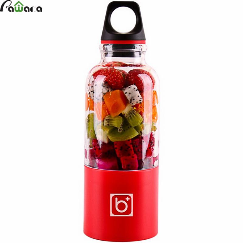 500ml Portable Blender Juicer Cup USB Rechargeable Electric Automatic Bingo Vegetables Fruit Juice Maker Cup Mixer Bottle