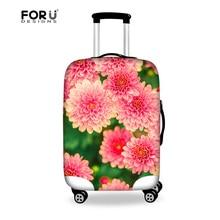 Forudesigns цветок печати камера защитная крышка для 18-28 дюймов чемодан, эластичные чехлы для багажа защитная крышка чехол