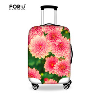 FORUDESIGNS Flower Printing Luggage Protective Cover for 18-28 Inch Suitcase,Elastic Covers for Luggage Protective Case Cover