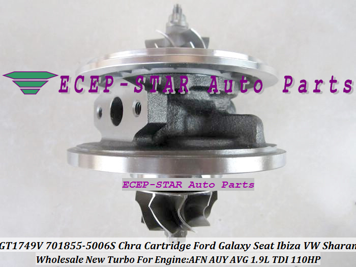 Turbo CHRA Cartridge GT1749V 701855-5006S 701855 Turbocharger For Volkswagen VW Sharan G ...