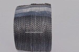 """Image 2 - Corde de treuil synthétique noire de 5mm * 100m, câble de treuil datv de 3/16 """"Dia pour des accessoires tout terrain, corde de Spectra de 12 tresses, corde de Plasma"""