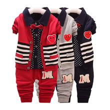 2016, boys and girls in the spring autumn of three sets fashion set, boutique set.