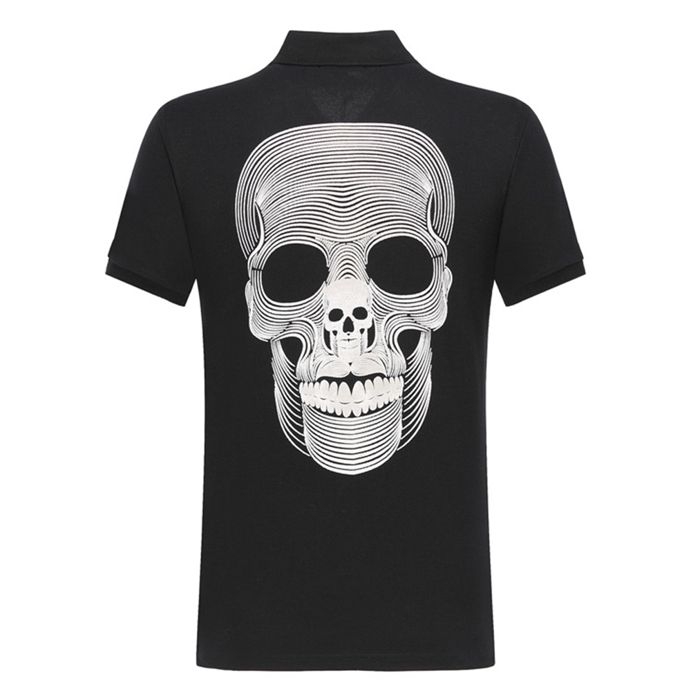 DUYOU New design short   polos   men brand clothing fashion casual Embroidery skull   polo   male top quality 100% cotton ADP701147