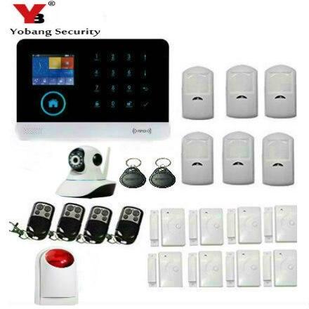YoBang Security Wireless WIFI 3G font b Alarm b font Touch Keyboard Panic font b Alarm