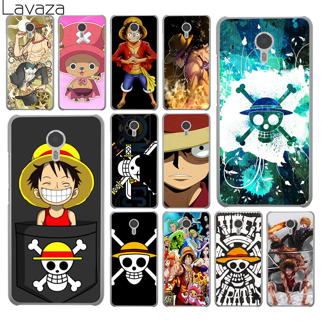 Lavaza One Piece Luffy Anime Hard Phone Case for Meizu M6 M5 M5C M5S M3 M3S M2 Mini Note U10 U20 Pro 7 Plus 6 Cover