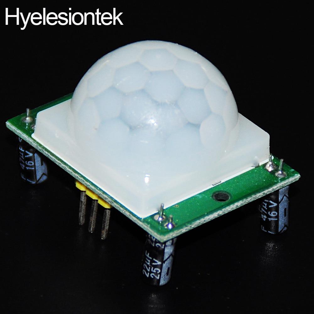 50PCS HC SR501 IR PIR Motion Sensor SR501 Infrared Detector Sensore Movimento Sensors De Corrente IR
