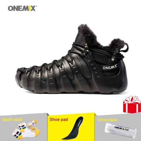 ONEMIX Winter Outdoor Walking Shoes for Men Mountain Boots Warm-full Women Climbing Shoes Men Sport Sneakers in Black Shoes Lahore