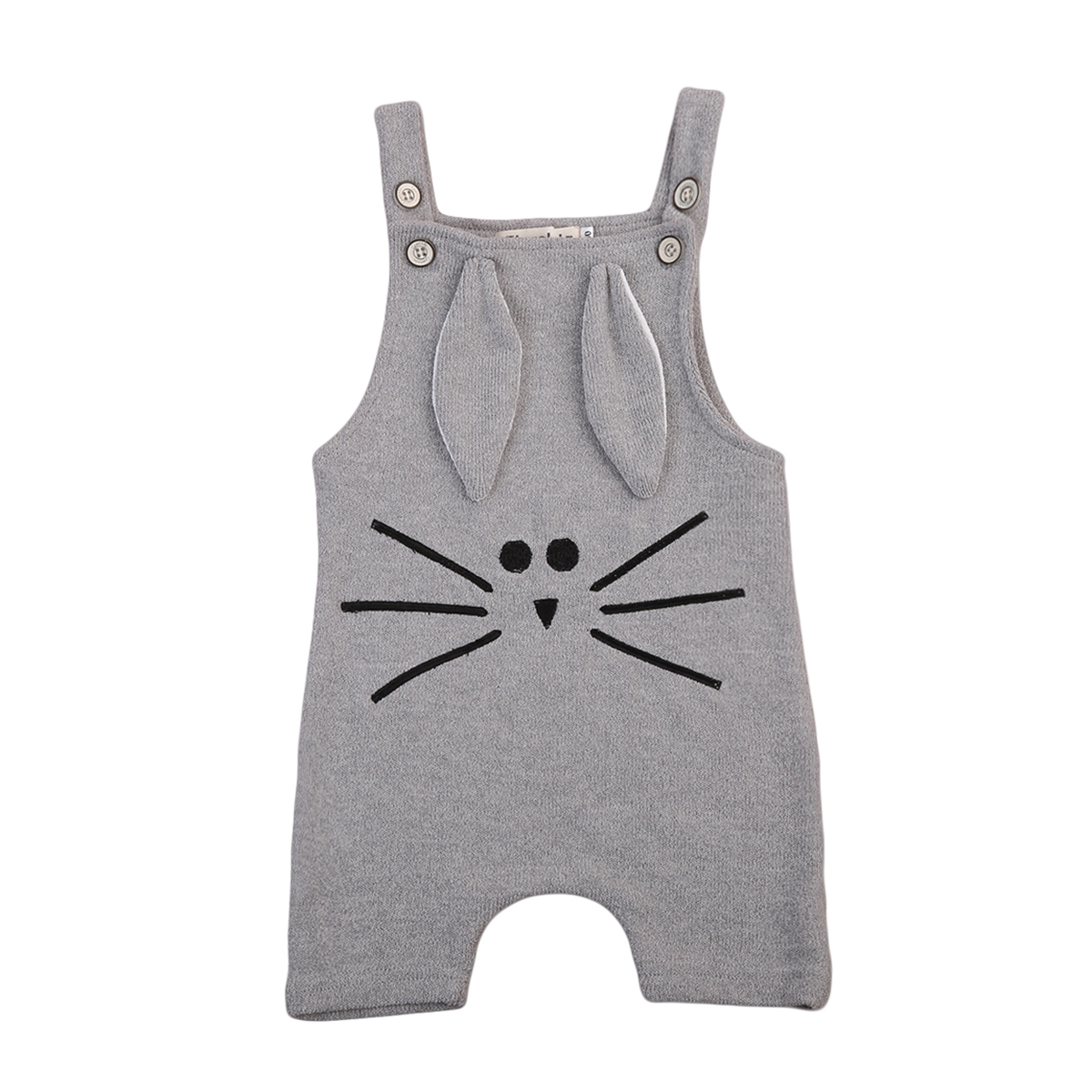 Newborn Infant Baby Boys Girls Cute Rabbit Printed Halter Romper One Piece Jumpsuit Clothes Outfit