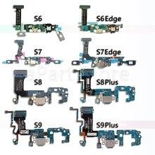 Usb מזח נמל מחבר טעינה להגמיש כבלים עבור סמסונג גלקסי S6 S7 קצה S8 S9 בתוספת G920F G930F G935F G950F g955F G960F G965F