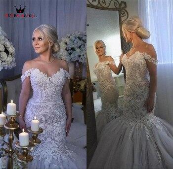 9ad25cec2 BATA De Mariee reina De 2019 Sexy sirena piso longitud vestido De boda  Vestidos De Novias matrimonio vestido De novia HC79