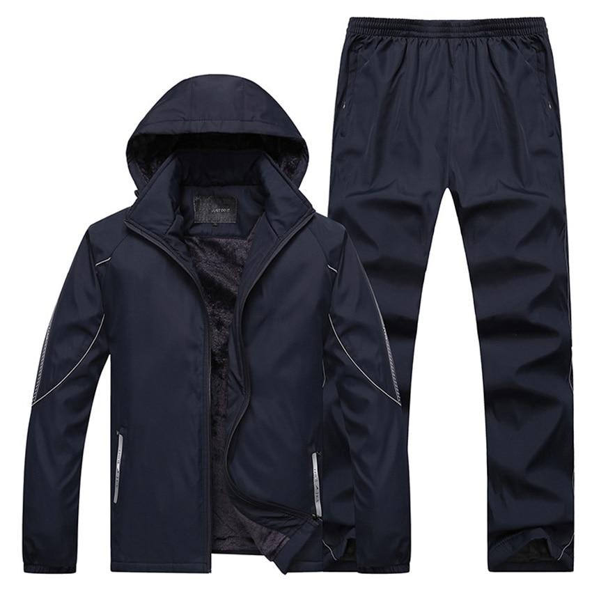 105 kg Può Indossare Grandi Dimensioni 4XL Uomini di Sport Imposta Maglione Vestito di Autunno Caldo Abbigliamento Palestra Uomo Allenamento Corsa e Jogging Da Jogging abiti 106wy