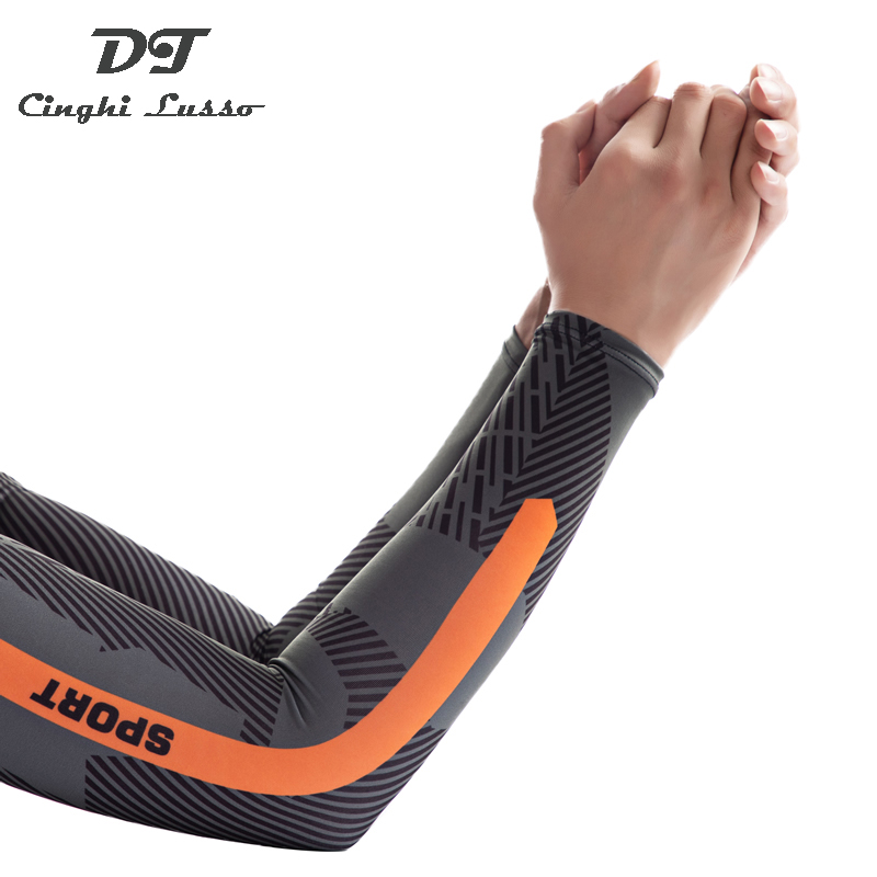 CINGHI LUSSO Cool Sport Sleeve Ice Silk Sleeve Sun Protective Sleeve For Men Women
