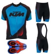 2017 Ktm Men Cycling jersey bicycle cycling clothing summer ropa ciclismo hombre mtb bike shirts/bib shorts with 9D gel pad F194