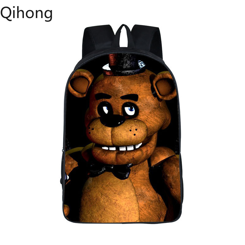 Five Nights At Freddy Backpack Women Men FNAF School Bags Teenager Kids Bagpack Five Nights At Freddys Bag Children Book Bags 19 image