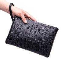 Bsiness Men bag Genuine Leather Alligator Clutch Bag Shoulder bag Wallet Handy Bag Handbags Day Clutches Male Large Purse