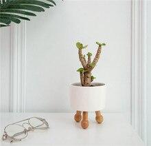 Garden pots for fower Ceramic pots for plants succulent planter wooden pots Plant Flower Pot Nordic decoration home