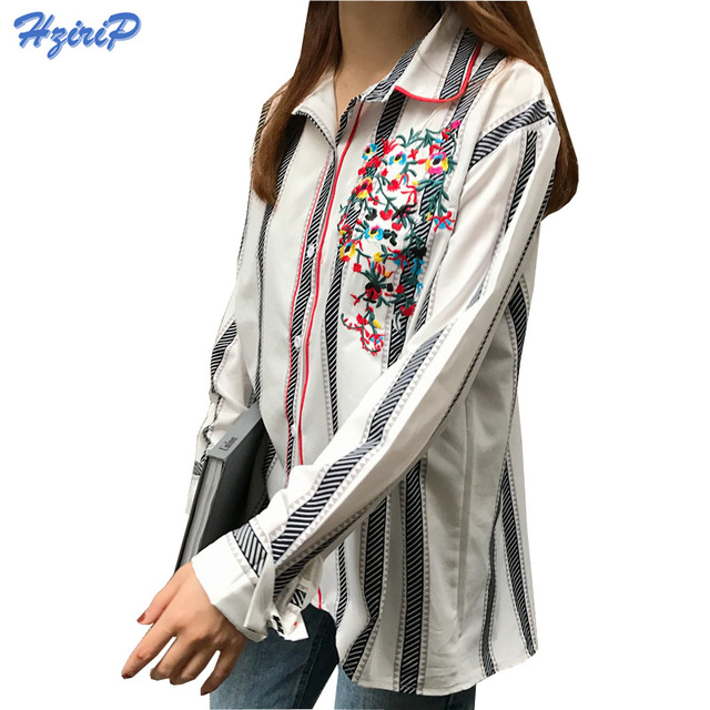 Embroidery Blouse White Shirt Women Long Sleeve Plus Size Clothing Women's Embroidered  Shirts Cotton Shirt Female