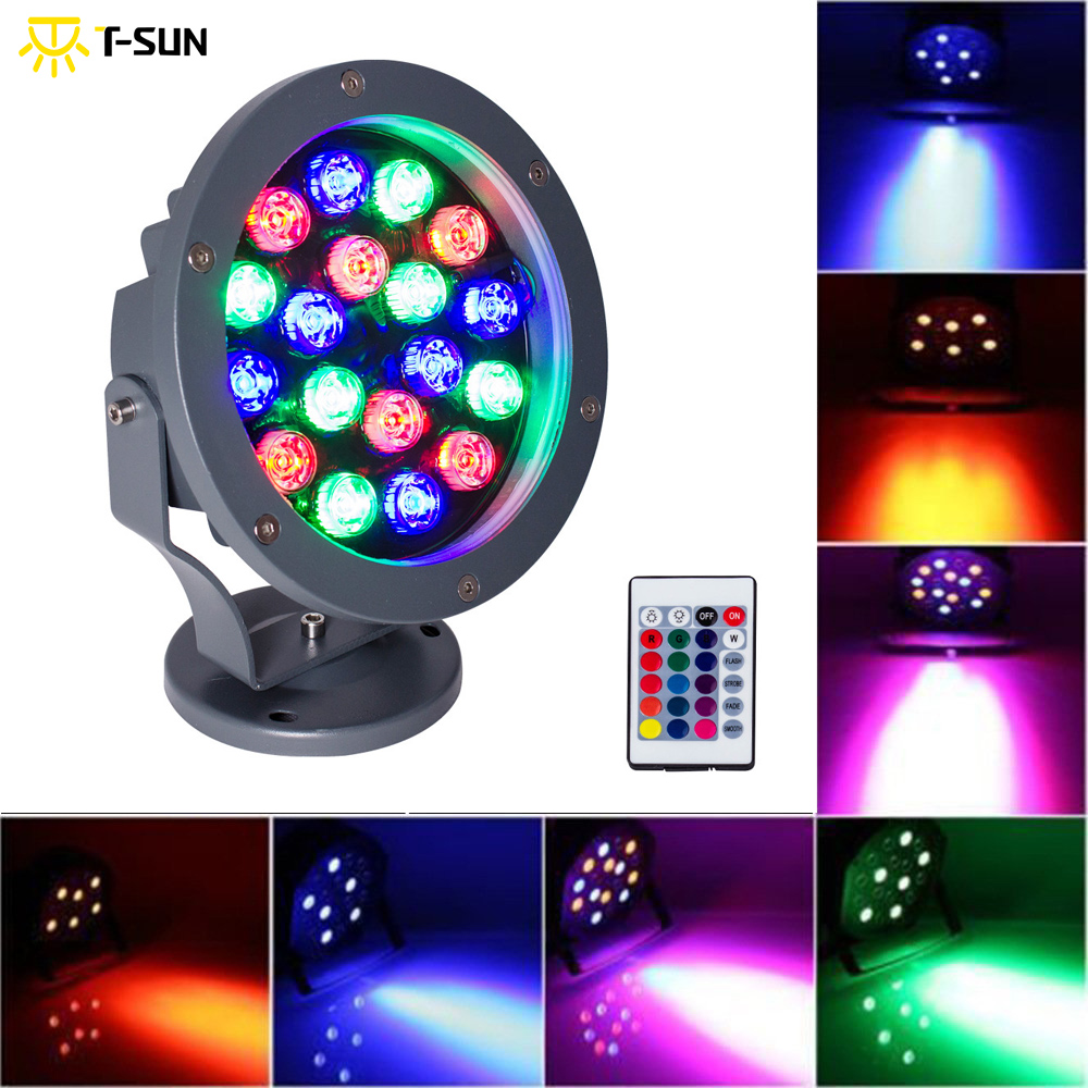 T-SUN 20W Led RGB Floodlights Par Lights Disco Stage Lights 4 Mode Available 12 Colors Combinations IP65 for Birthday Party Bars led par stage light dj disco with music activated auto run and dmx512 control mode different colors combinations of rgb rotating