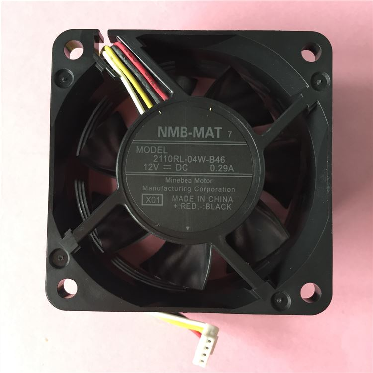 NMB-MAT 2110RL-04W-B46 , X01 DC 12V 0.29A   50x50x25mm Server Square fan nmb mat 3110kl 04w b49 b02 b01 dc 12v 0 26a 3 wire server square fan
