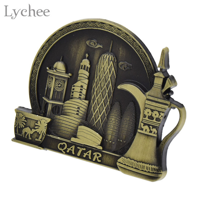 Lychee Life Qatar Tourist Souvenir Fridge Magnet Craft Refrigerator Sticker Decals DIY Handmade Home Decoration 4