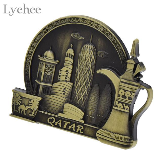 Lychee Qatar Tourist Souvenir Fridge Magnet Craft Refrigerator Sticker Decals DIY Handmade Home Decoration