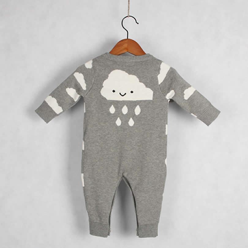 Otoño / Invierno Ropa para bebé de una sola pieza Nubes lindas - Ropa de bebé - foto 3