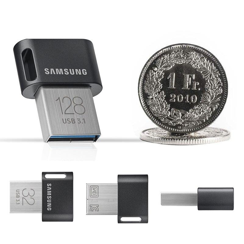 cheapest SAMSUNG FITplus USB 3 1 New USB Flash Drive 32GB 64GB 200MB s Pendrive Metal mini usb Memory Stick 128GB 256GB 400M s Pen Drive