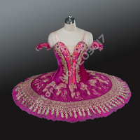 Adult Child Pink And Gold Swan Dress Women Professional Ballet Tutus Girls Dance Costumes Classical Ballerina Pancake Tutu B1235