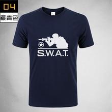 Wholesale 2017New SWAT Military Herren T-Shirts Kurzarm Armee T-Shirt 100% Baumwolle Jagd Camping Wandern Kleidung 6 Farbe