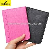 RFID Blocking Passport Wallet PU Leather Mutifunctional Can Take Credit Cards Passport Ticket Holder 1 Pcs