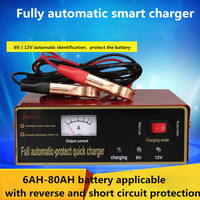 6V 12V 80AH Storage Battery Charger Intelligent Pulse Repair Type For Motocycle Toy Car Dry Wet
